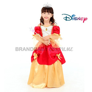 Disney 디즈니 코스튬 벨공주 셋트(드레스+브롯치+왕관+요술봉)