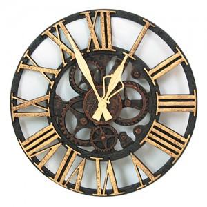 (한국산 정품) 빅톱니바퀴벽시계(골드)
