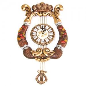 (한국산 정품) 왕관하프벽시계2