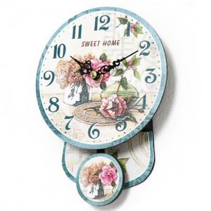 프로방스 미니 추벽시계(블루밍)