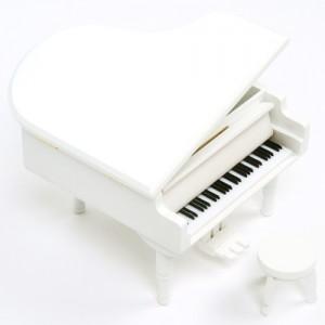 그랜드 피아노 오르골(화이트)