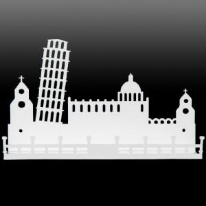 모던 시티선반 로마피사탑(화이트)