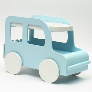 자동차 우드 데스크 수납함(블루)
