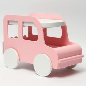 자동차 우드 데스크 수납함(핑크)