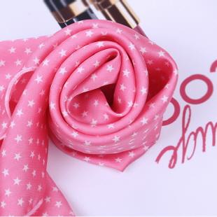 귀여운 스카프 - 핑크스타