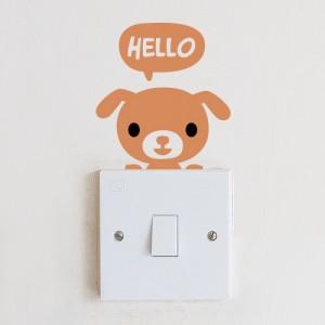 [아빠곰스티커]안녕강아지