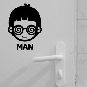 [아빠곰스티커]화장실남녀_안경