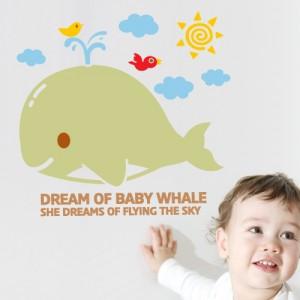 [아빠곰스티커]아기고래