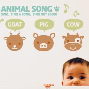 [아빠곰스티커]동물노래