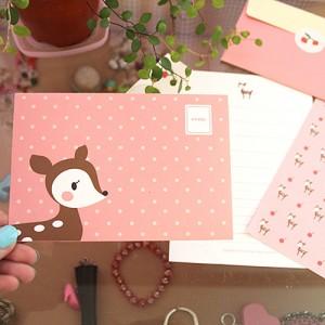 letter set-아기꽃사슴 루루