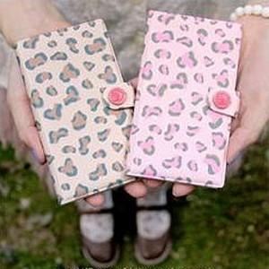 롱카드지갑 leopard / pink leopard