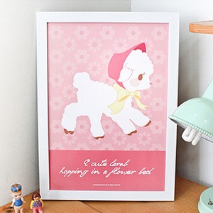 my retro poster-baby lamb(A3)