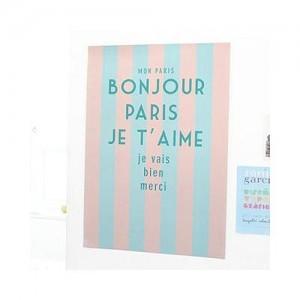 bonjour paris poster - v4(A3)