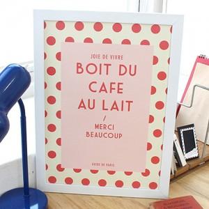 bonjour paris poster - v2(A3)