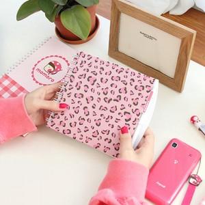 pink leopard spring note set
