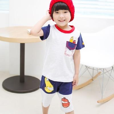 라바 포켓 스티치 상하복(2color)