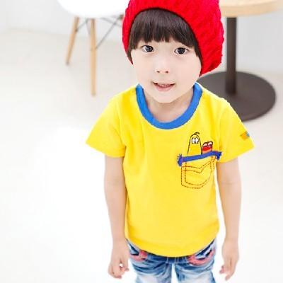 라바 포켓 스티치 반팔 티셔츠(2color)