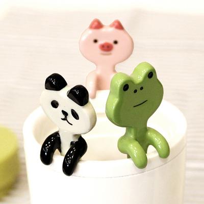 Decole 애니멀 컵걸이 티스푼 3type (일본직수입)