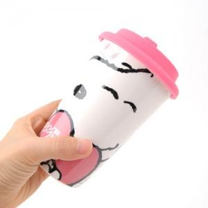 스누피 러브 도기 에코컵-핑크