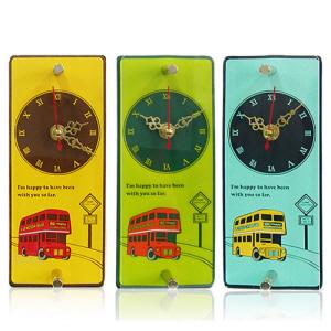 런던버스 입체고무 탁상시계
