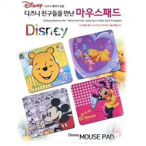 [디즈니 마우스패드]TKDS D8507 정품 캐릭터 마우스패드/미키/미니/푸우