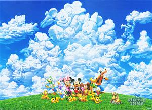 TD 108-993 미키 가족의 구름놀이 (디즈니 퍼즐)