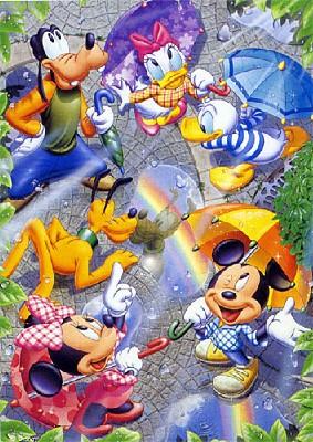 TD 108-964 빗속의 미키 친구들 (디즈니 퍼즐)