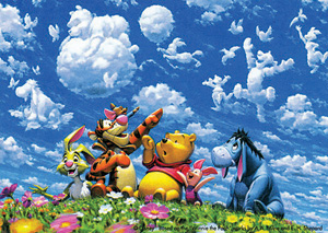 TD 108-859 푸우 구름 놀이 (디즈니 퍼즐)