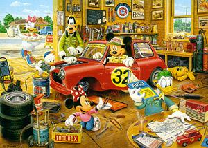 TD 108-830 미키 자동차 정비 (디즈니 퍼즐)