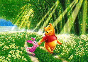 TD 108-857 푸우의 숲속산책 (향기) (디즈니 퍼즐)