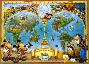 TD 300-122 미키와 세계지도 (디즈니 퍼즐)