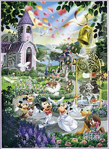 TDSG 500-402 미키미니의 화이트 결혼식(크리스탈) (디즈니 퍼즐)