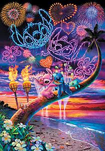 TD 500-371 스티치-석양의 해변 (디즈니 퍼즐)