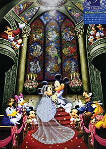 TD 500-356 미키의 행복한 결혼식(홀로그램) (디즈니 퍼즐)