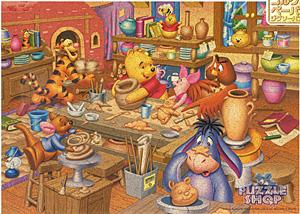 TD 500-374 푸우와 친구들-도자기 만들기(코르크) (디즈니 퍼즐)