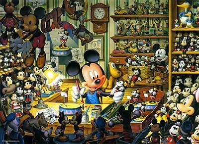 TD 500-354 미키 장난감 작업실(야광) (디즈니 퍼즐)
