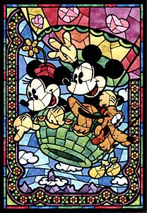 TDSG 500-395 미키 스테인드 글라스(크리스탈) (디즈니 퍼즐)