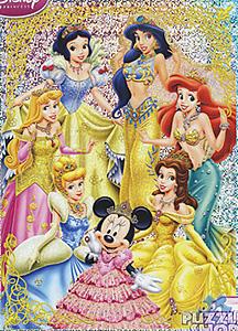 TD 500-380 미니와 디즈니 공주들(홀로그램) (디즈니 퍼즐)