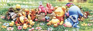 TD 950-583 베이비 푸 꽃밭의 낮잠 (와이드 퍼즐) (디즈니 퍼즐)