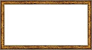 퍼즐 액자 34x102cm 엔틱골드
