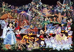 TD1000-329 디즈니 친구들-루미나리에(홀로그램)