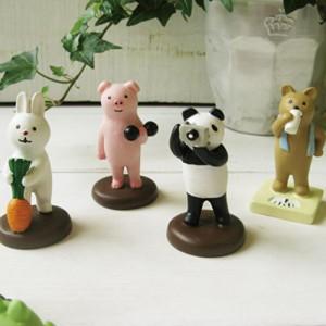 Decole 동물 장식 인형 4p set