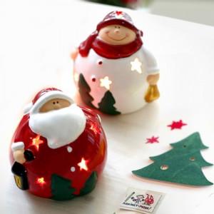 트리 산타 눈사람 촛대 2p set