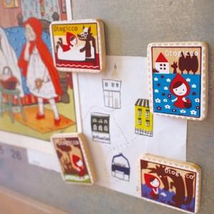Decole otogicco 동화 우표 마그넷 set
