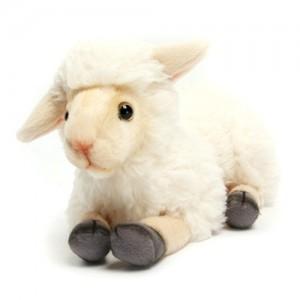 [HANSA] Lamb Crouching CR(어린양크림색2) 4504번/27*13cm