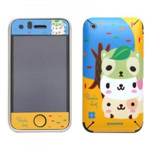 스킨플레이어 iPhone 3Gs 햄버거놀이 독프랜즈(옐로우) 디자인 스킨