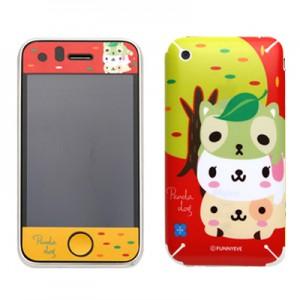 스킨플레이어 iPhone 3Gs 햄버거놀이 독프랜즈(레드) 디자인 스킨