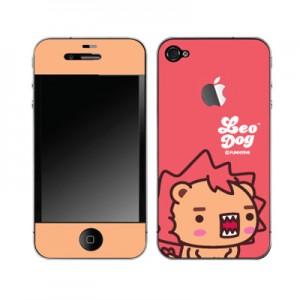 스킨플레이어 iPhone 4G 아작아작 레오독 디자인 스킨