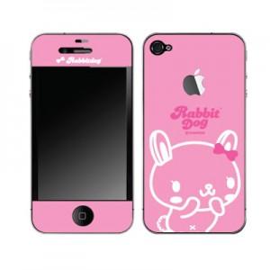 스킨플레이어 iPhone 4G 화이트핑크 래빗독 디자인 스킨