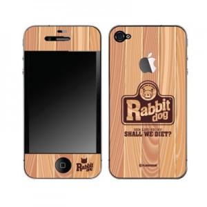 스킨플레이어 iPhone 4G 컨트리 우드 래빗독 디자인 스킨